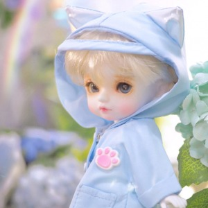 [PETIT16] Kitty Raincoat(Sky blue)