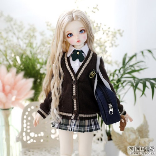 KDF NINE School Girl set (Brown)